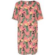 Långklänningar Only  VESTIDO  onlNOVA LUX AOP TEE DRESS WVN MULTICOLOR...