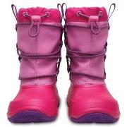 Crocs Swiftwater Waterproof Boot Kids Rosa US J2 (EU 33-34) Barn