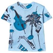 Dolce & Gabbana Palm Print T-shirt Blå 2 years