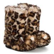 Dolce & Gabbana Leopard Fuskpäls Stövlar Brun 25 (UK 8)