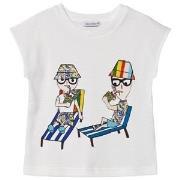 Dolce & Gabbana Dolce Gabbana Holiday Print T-shirt Vit 6 years