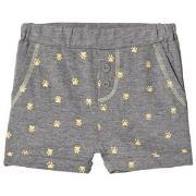 Noa Noa Miniature Soft Shorts med Tryck Grey Melange 6 mån