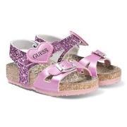 Guess Glitter Cross Strap Sandaler Rosa 34 (UK 1.5)