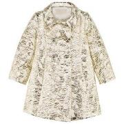 I Pinco Pallino Gold and White Couture Jacquard Double Breasted Coat 6...